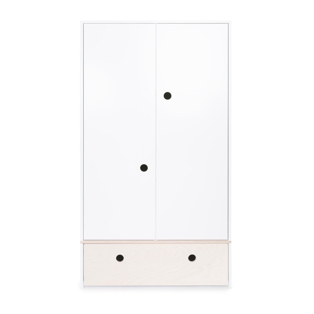 Armoire 2 portes COLORFLEX façade tiroir white wash