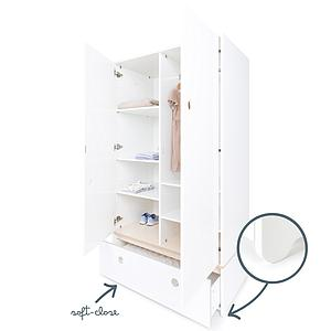 Armoire 2 portes COLORFLEX façade tiroir white