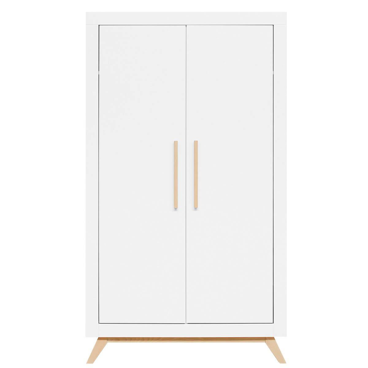 Armoire 2 portes FENNA Bopita blanc-naturel
