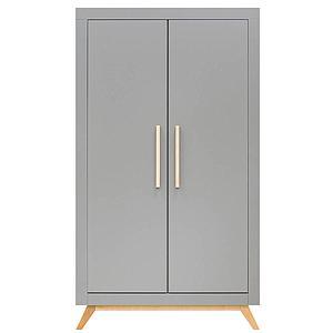 Armoire 2 portes FENNA Bopita gris-naturel