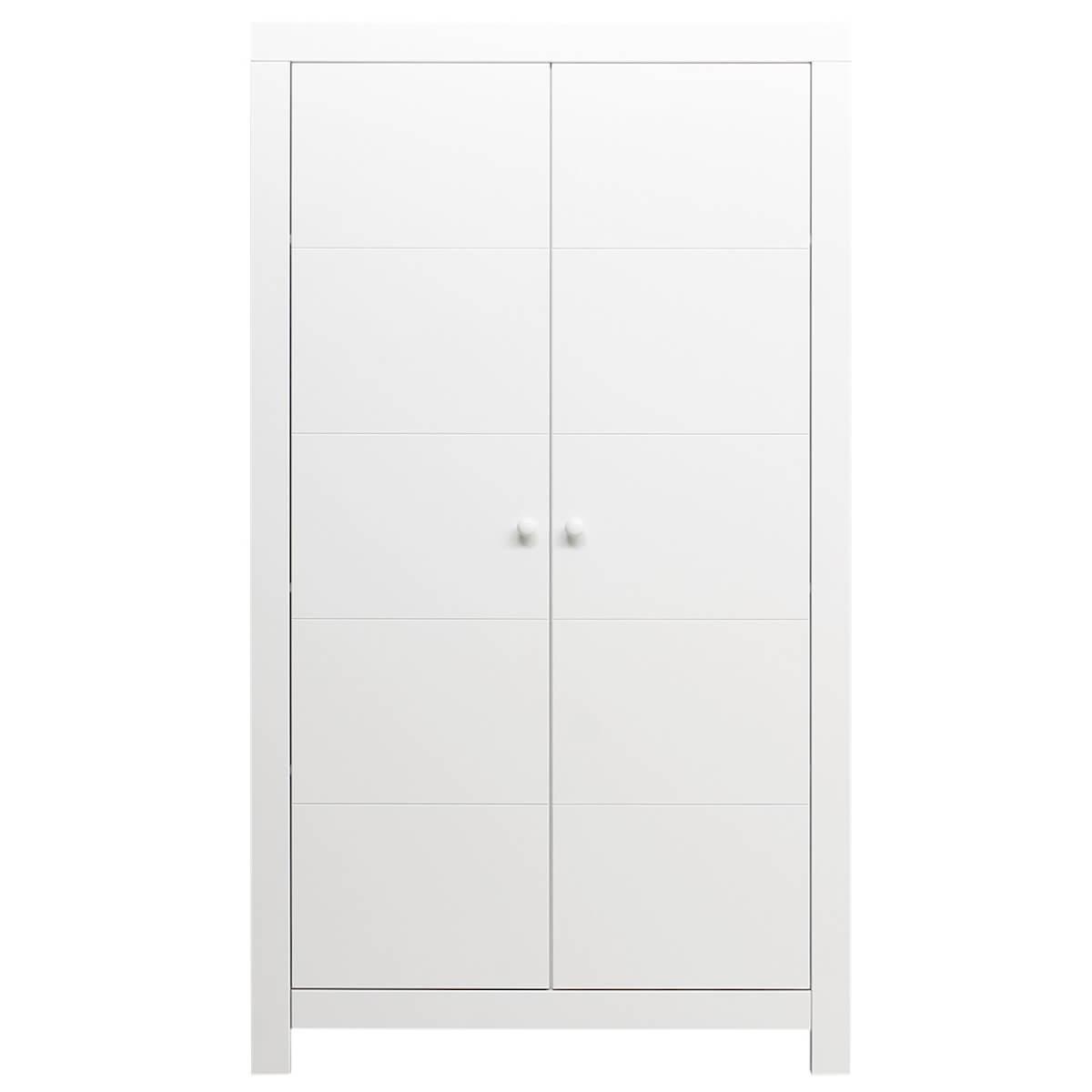 Armoire 2 portes HUGO Bopita blanc