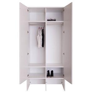 Armoire 2 portes KASVA Debreuyn blanc-chêne