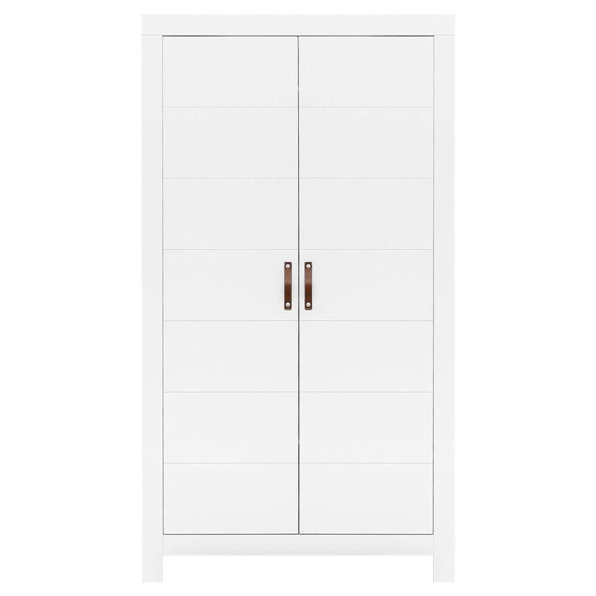 Armoire 2 portes LUCCA Bopita blanc