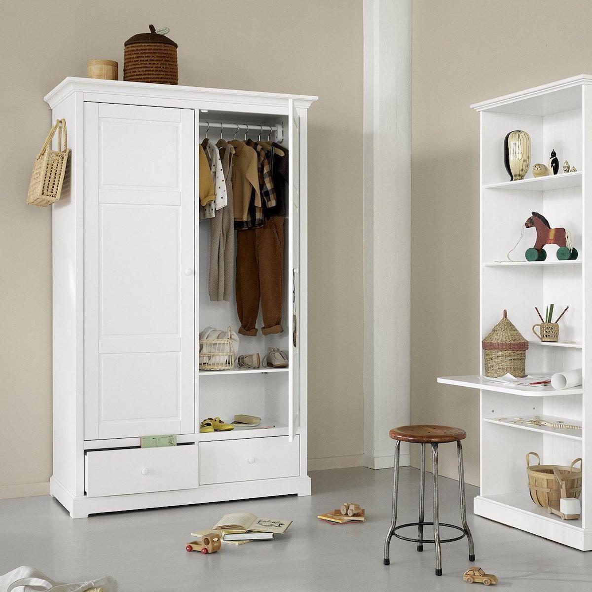 Armoire 2 portes SEASIDE Oliver Furniture blanc