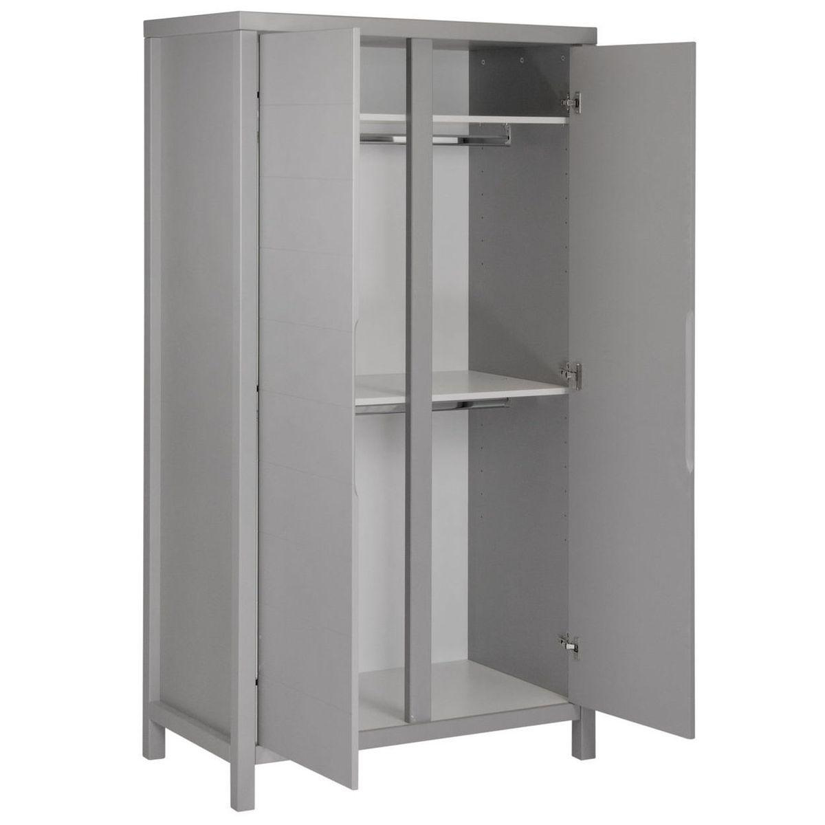 Armoire 2 portes STRIPES Quax Griffin grey