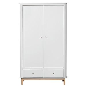 Armoire 2 portes WOOD Oliver Furniture blanc-chêne