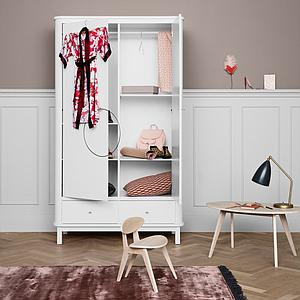 Armoire 2 portes WOOD Oliver Furniture blanc