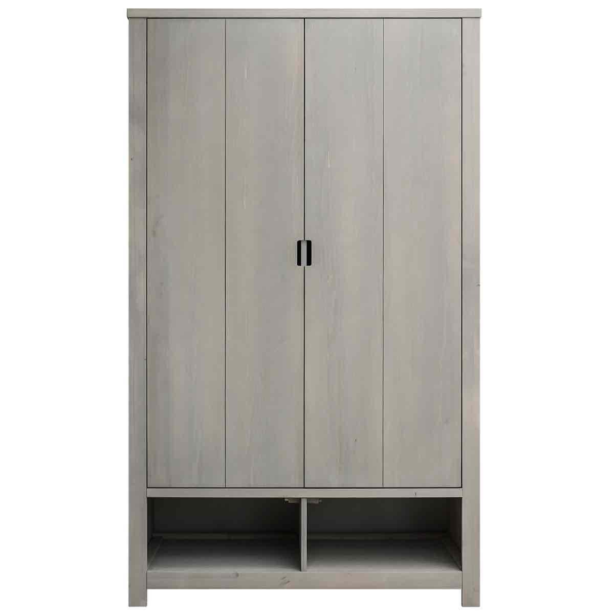 Armoire 2 portes XL BASIC WOOD Bopita gravel wash (sans tiroirs)