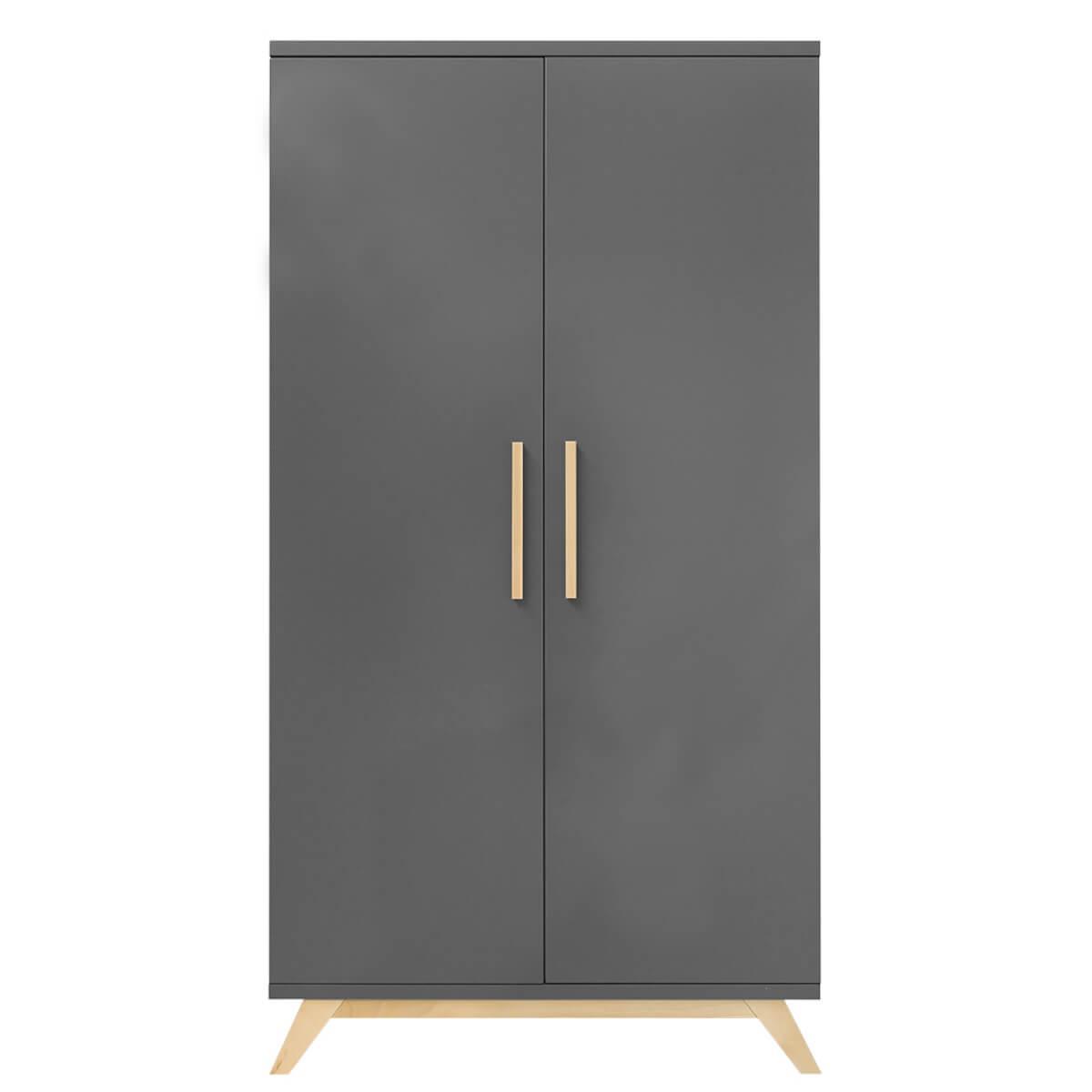 Armoire 2 portes XL KYAN Bopita deep grey
