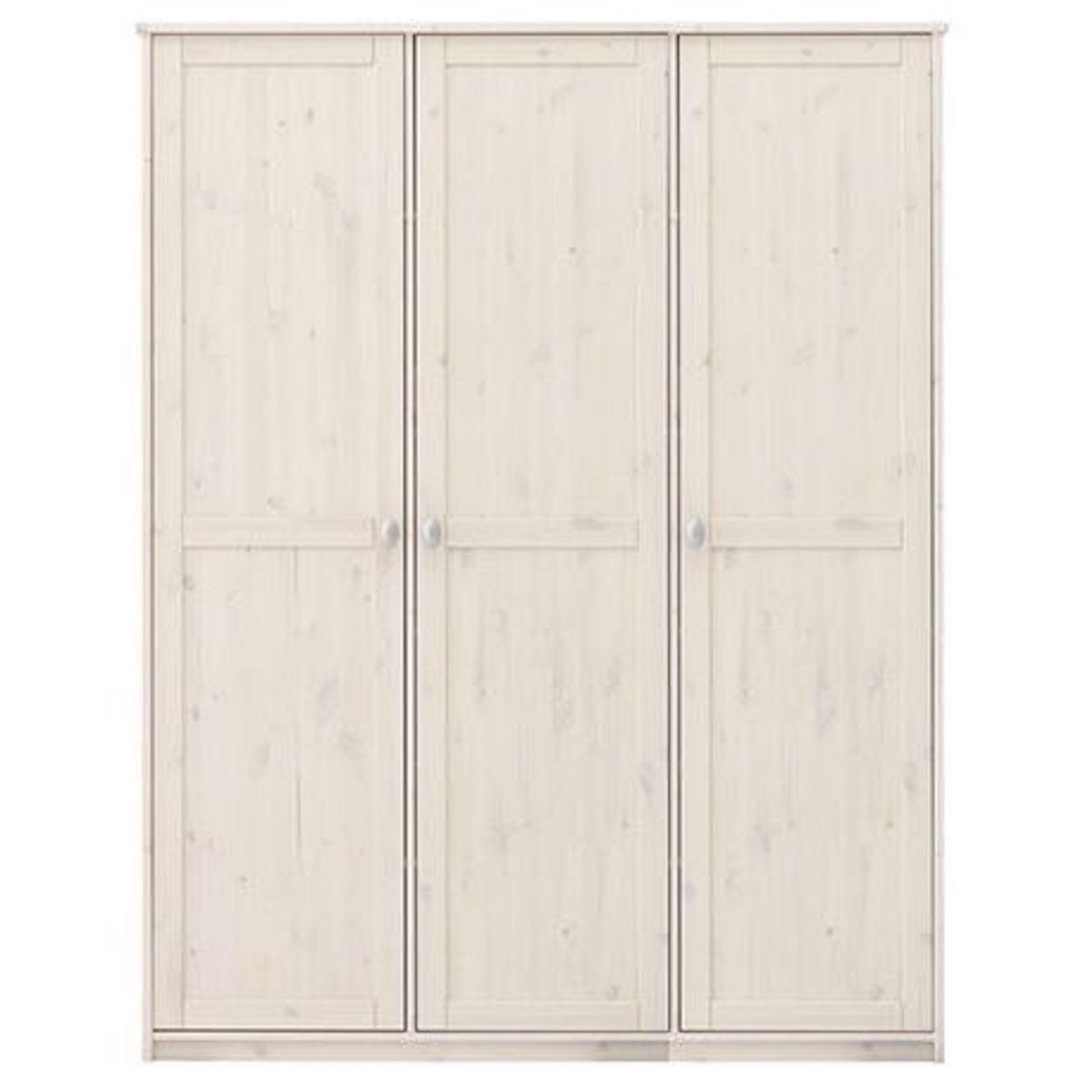 Armoire 3 portes 154cm Lifetime blanchi