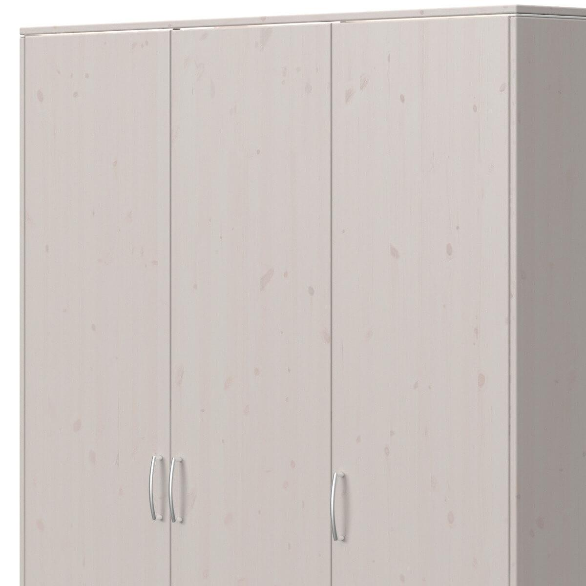 Armoire 3 portes 2 tiroirs CLASSIC Flexa grey washed