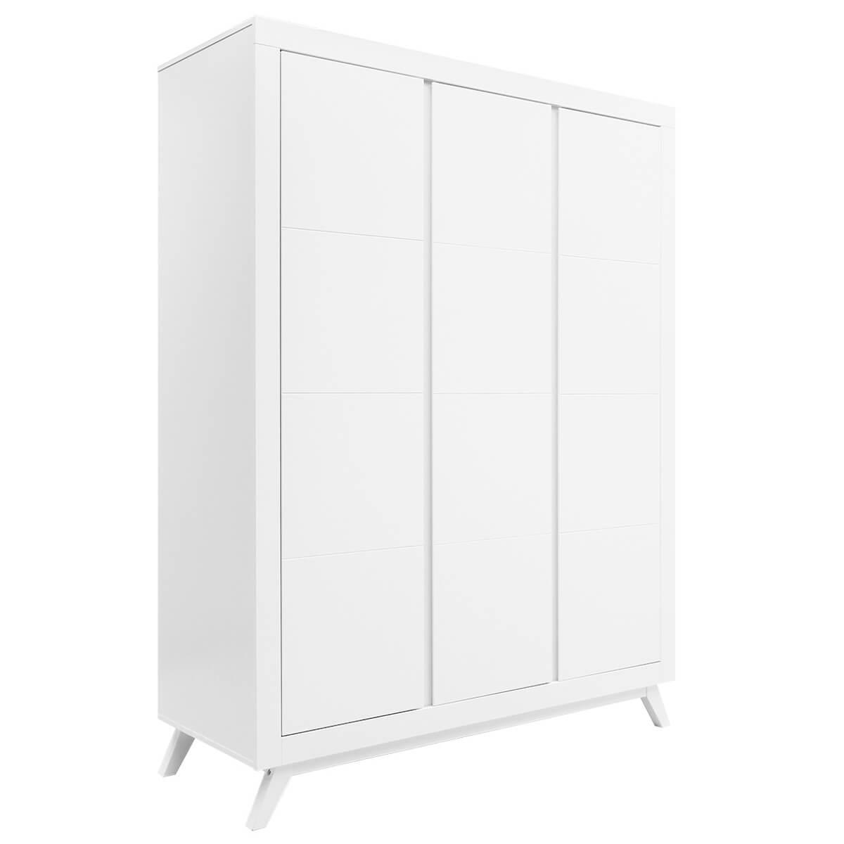 Armoire 3 portes ANNE Bopita blanc