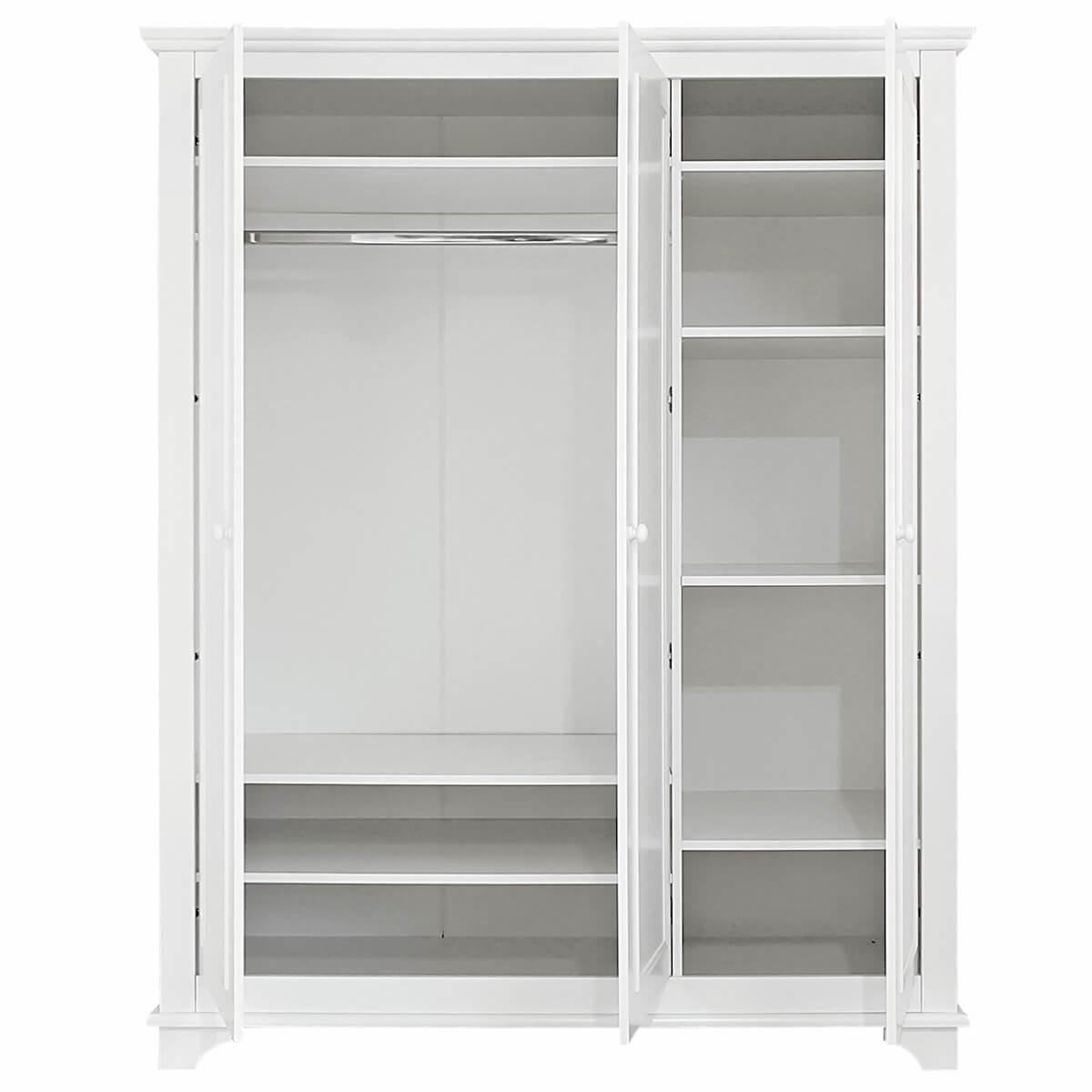 Armoire 3 portes CHARLOTTE Bopita blanc