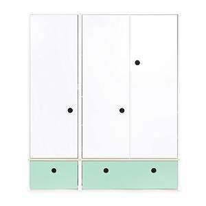 Armoire 3 portes COLORFLEX Abitare Kids façades tiroirs mint