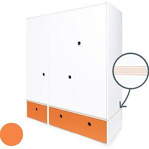 Armoire 3 portes COLORFLEX Abitare Kids façades tiroirs pure orange
