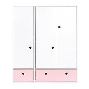 Armoire 3 portes COLORFLEX Abitare Kids façades tiroirs sweet pink