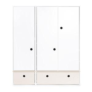 Armoire 3 portes COLORFLEX Abitare Kids façades tiroirs white wash