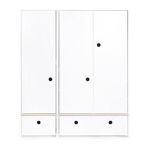 Armoire 3 portes COLORFLEX Abitare Kids façades tiroirs white