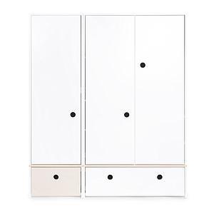 Armoire 3 portes COLORFLEX façades tiroirs white wash-white