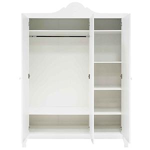 Armoire 3 portes EVI Bopita blanc