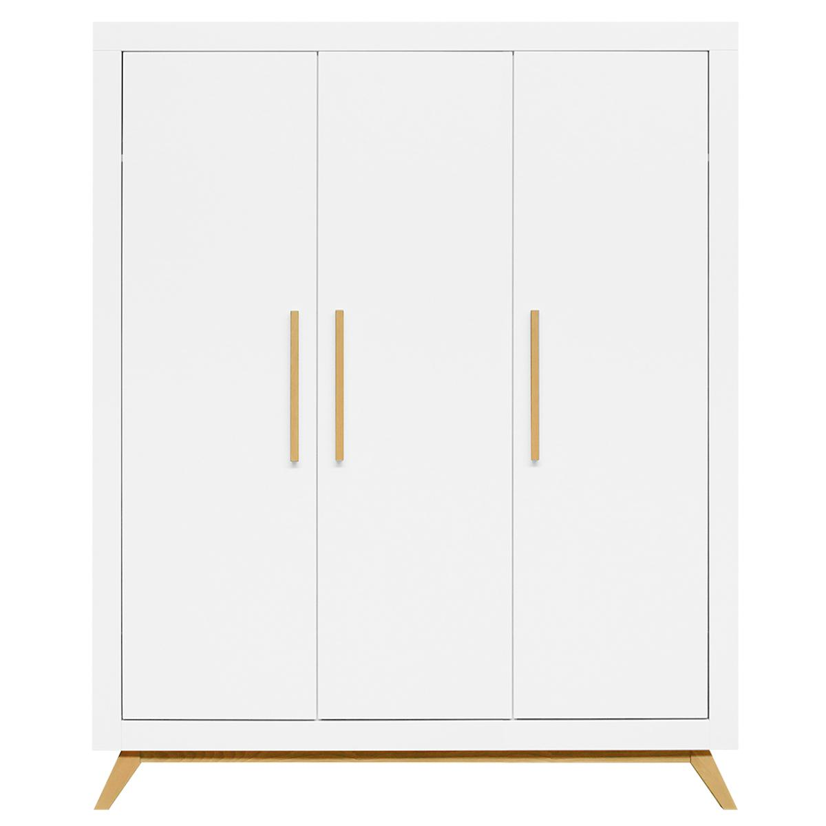 Armoire 3 portes FENNA Bopita blanc-naturel
