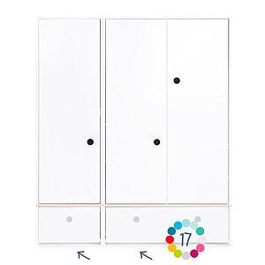 Armoire 3 portes hors façades tiroirs COLORFLEX Abitare Kids
