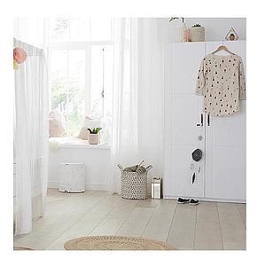 Armoire 3 portes Lifetime blanc (sans portes)