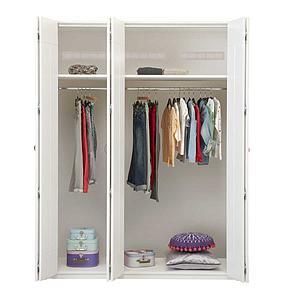 Armoire 3 portes Lifetime blanchi (sans portes)