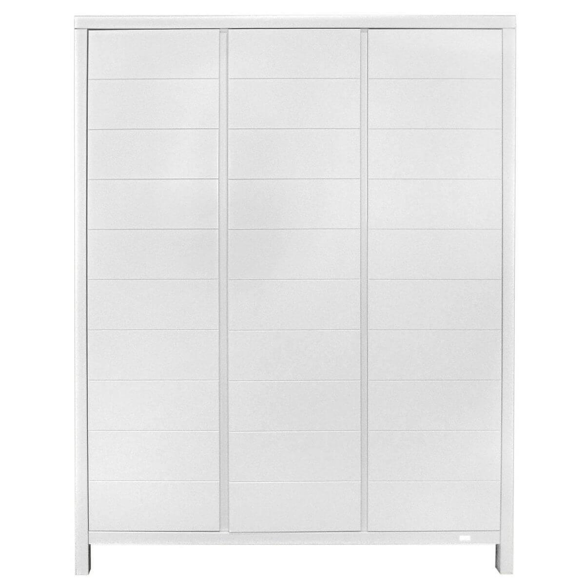 Armoire 3 portes STRIPES Quax blanc
