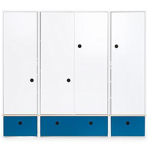 Armoire 4 portes COLORFLEX Abitare Kids façades tiroirs deep marine
