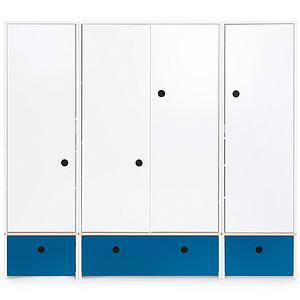 Armoire 4 portes COLORFLEX façades tiroirs deep marine