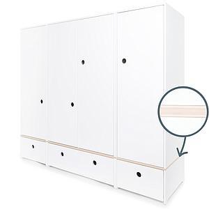 Armoire 4 portes COLORFLEX façades tiroirs white