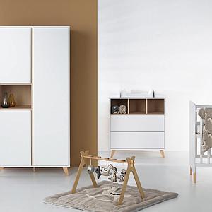 Armoire 96x190cm LOFT Quax blanc