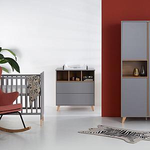 Armoire 96x190cm LOFT Quax gris