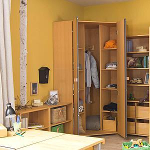 Armoire d'angle 2 portes DELUXE de Breuyn bois huilé