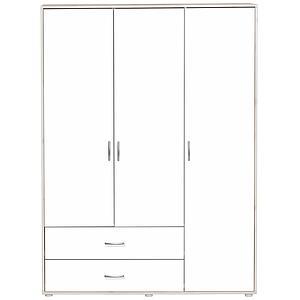 Armoire enfant 3 portes/2tiroirs NEW Classic FLEXA blanchi - blanc - blanc