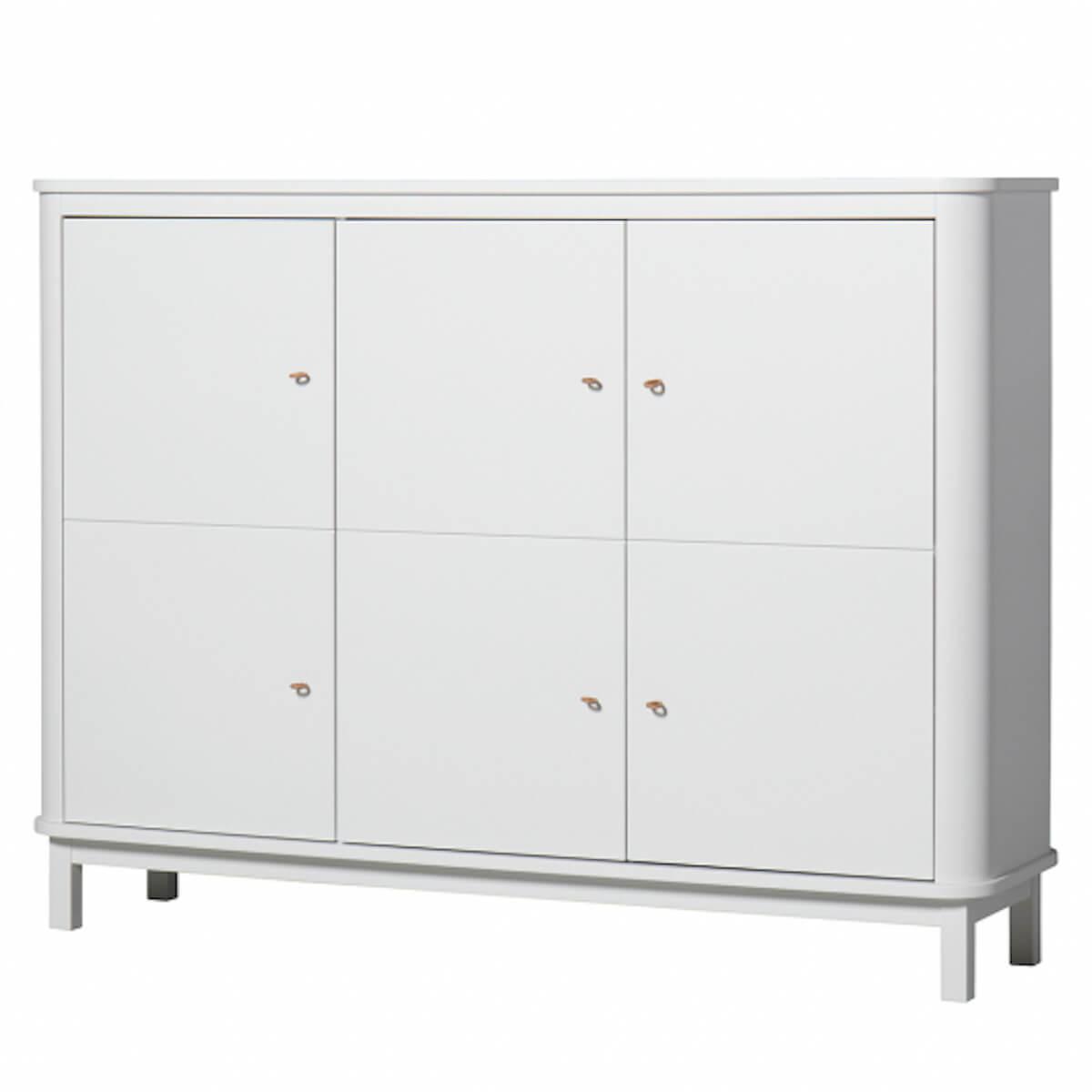 Armoire multi-rangement 3 portes WOOD Oliver Furniture blanc