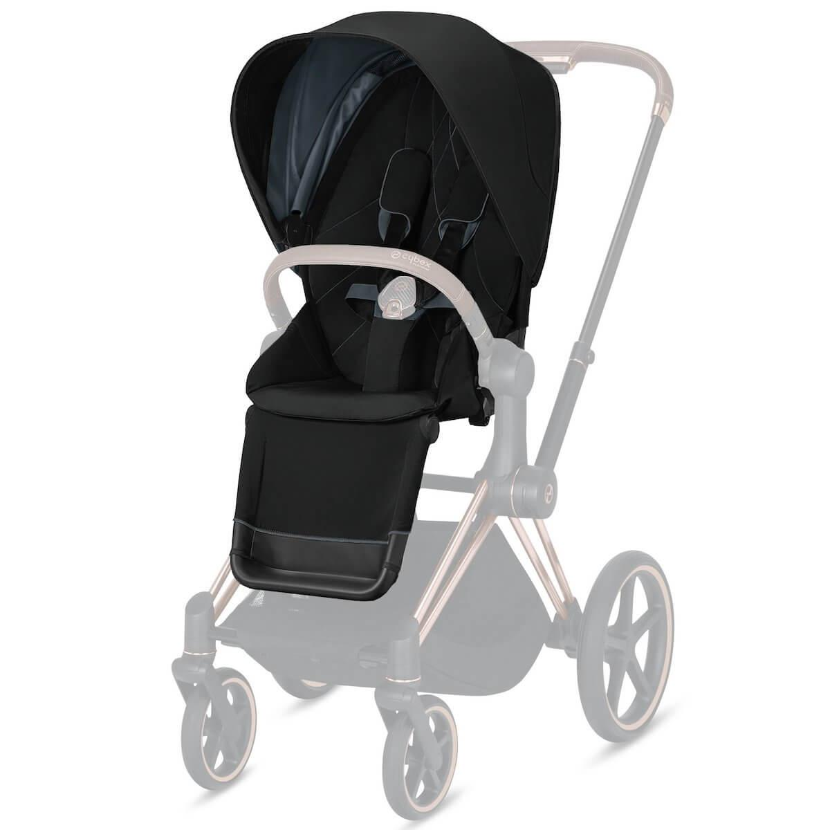 Assise-habillage poussette PRIAM Cybex deep black-black