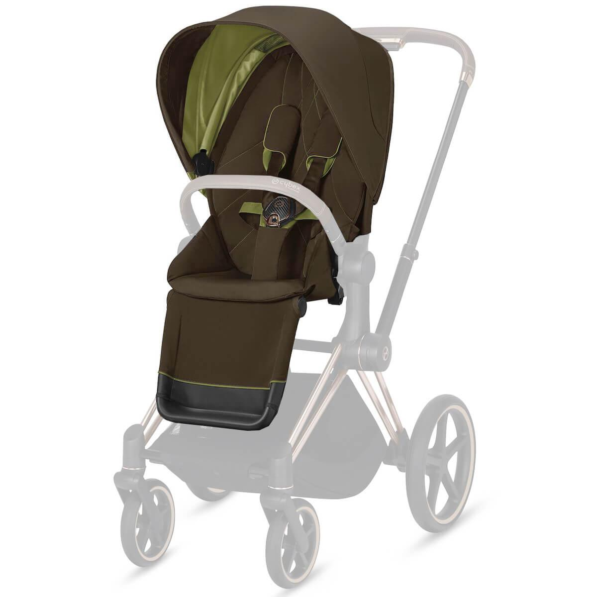 Assise-habillage poussette PRIAM Cybex Khaki green-khaki brown