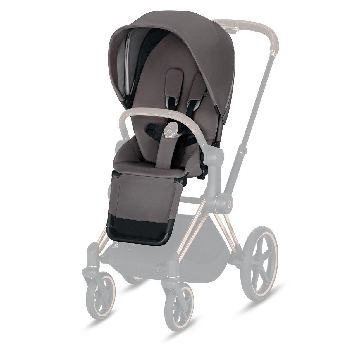 Assise-habillage poussette PRIAM Cybex manhattan grey-mid grey
