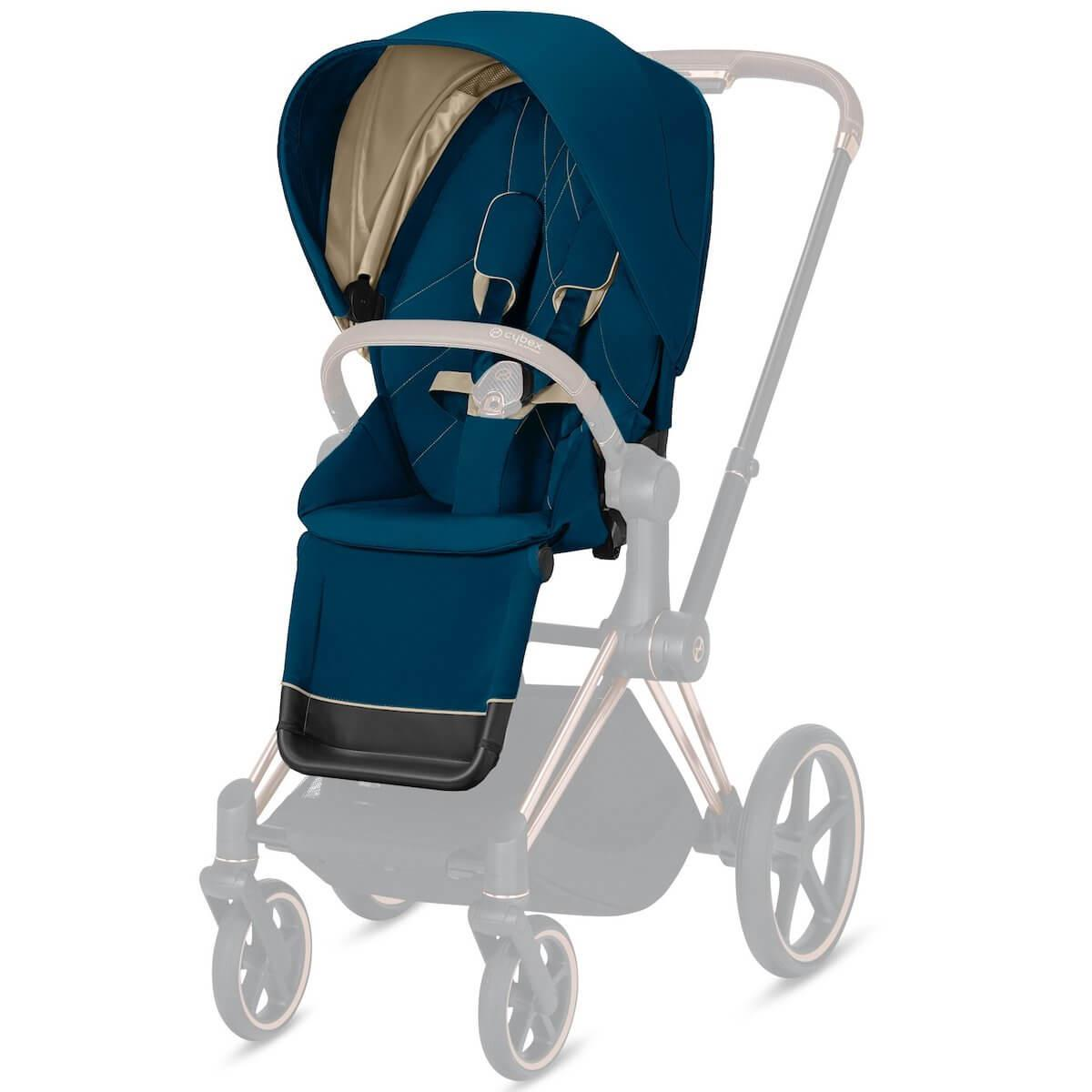 Assise-habillage poussette PRIAM Cybex Mountain blue-turqoise