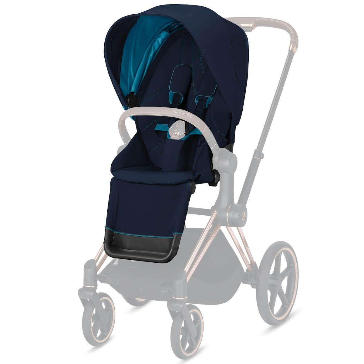 Assise-habillage poussette PRIAM Cybex Nautical blue-navy blue