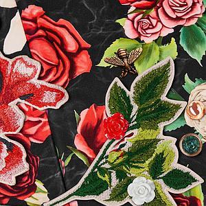 Assise-habillage poussette PRIAM Cybex Spring Blossom Dark-black