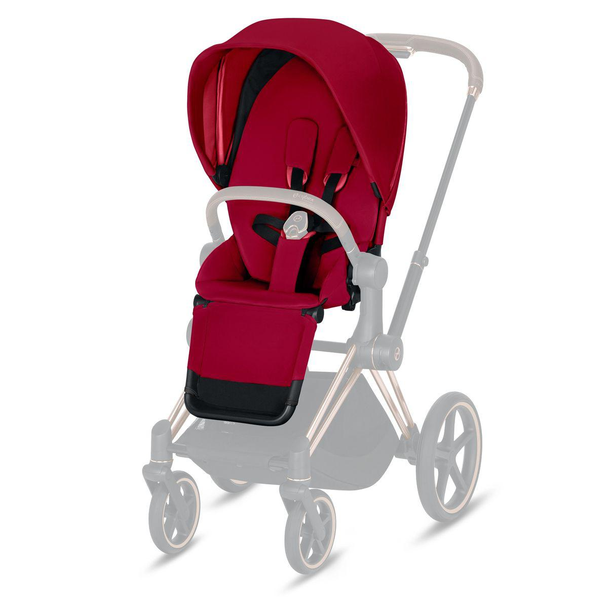 Assise-habillage poussette PRIAM Cybex true red-red