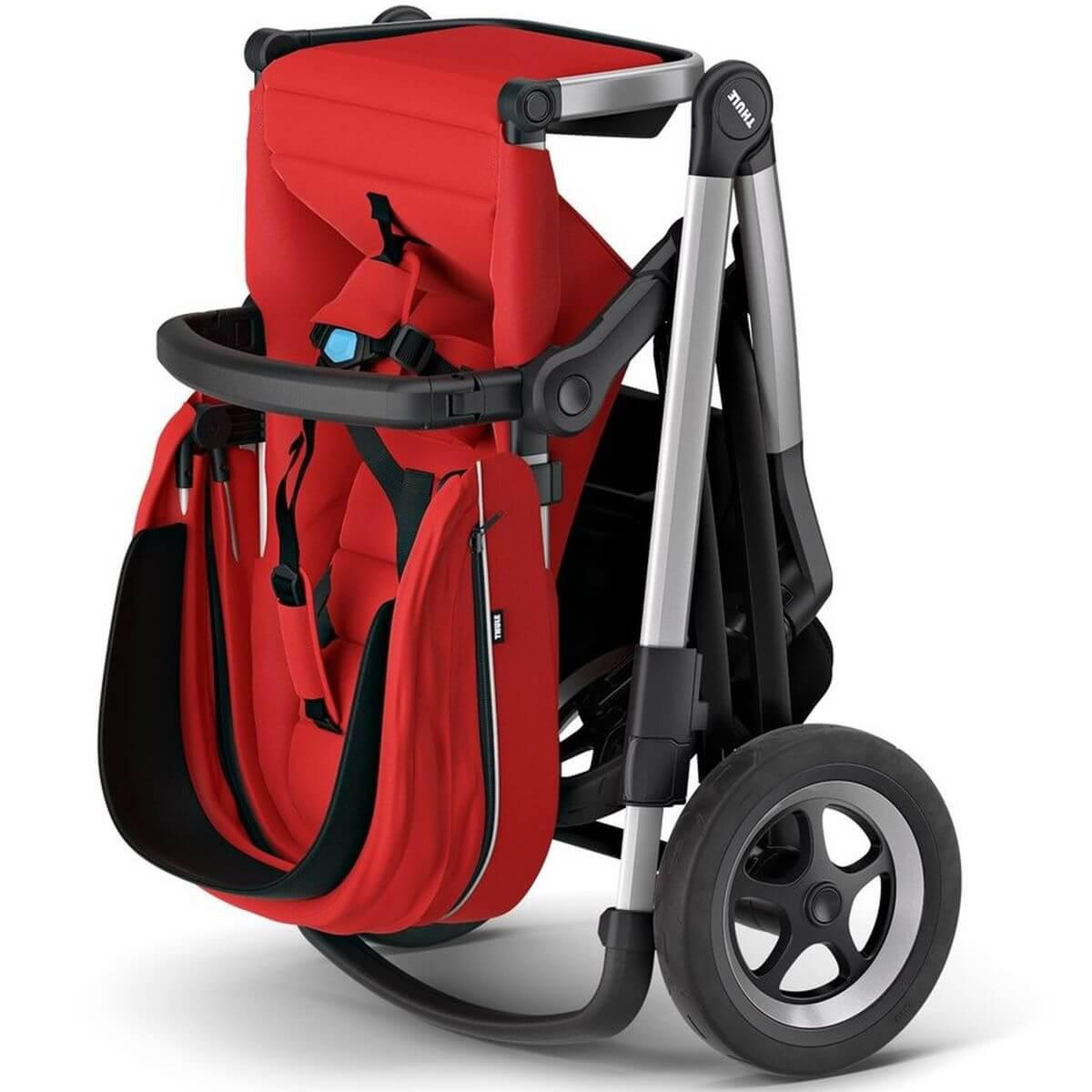 Assise-poussette SLEEK Thule energy red