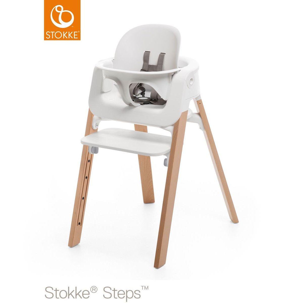 Baby Haute Set Stokke Steps Blanc Chaise MpSLUGzqV