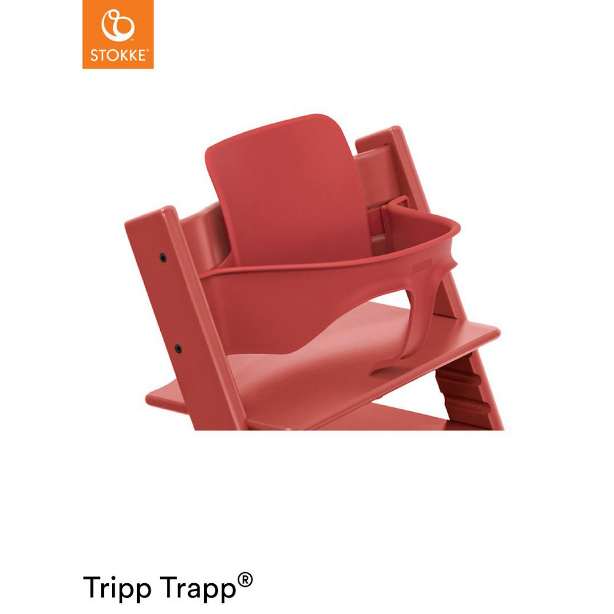 Baby set chaise haute TRIPP TRAPP Stokke Warm Red