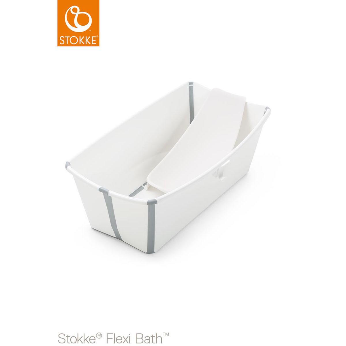 Baignoire-support nouveau-né FLEXI BATH Stokke blanc