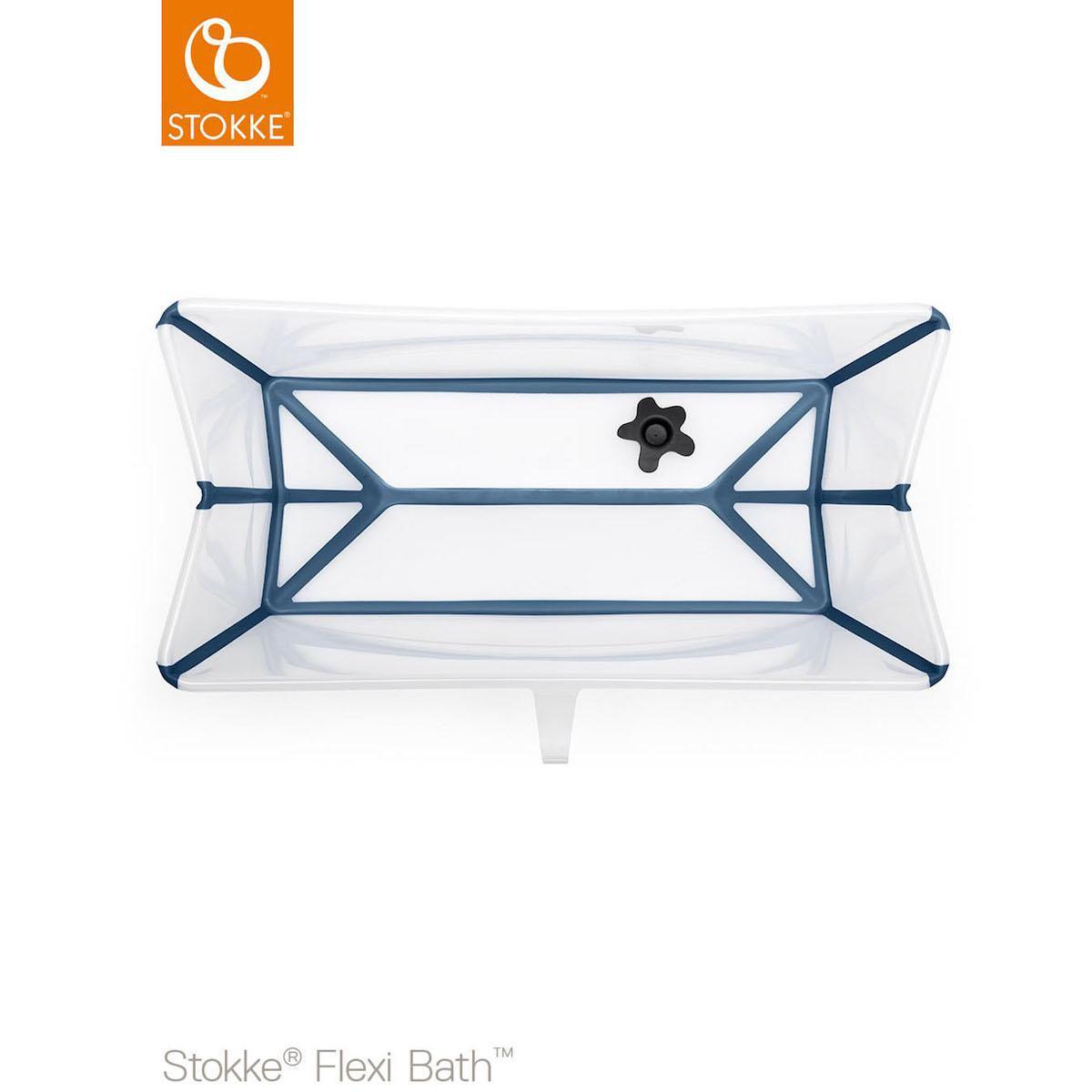 Abitare Kids Lu Baignoire Xl Flexi Bath Stokke Transparent Bleu