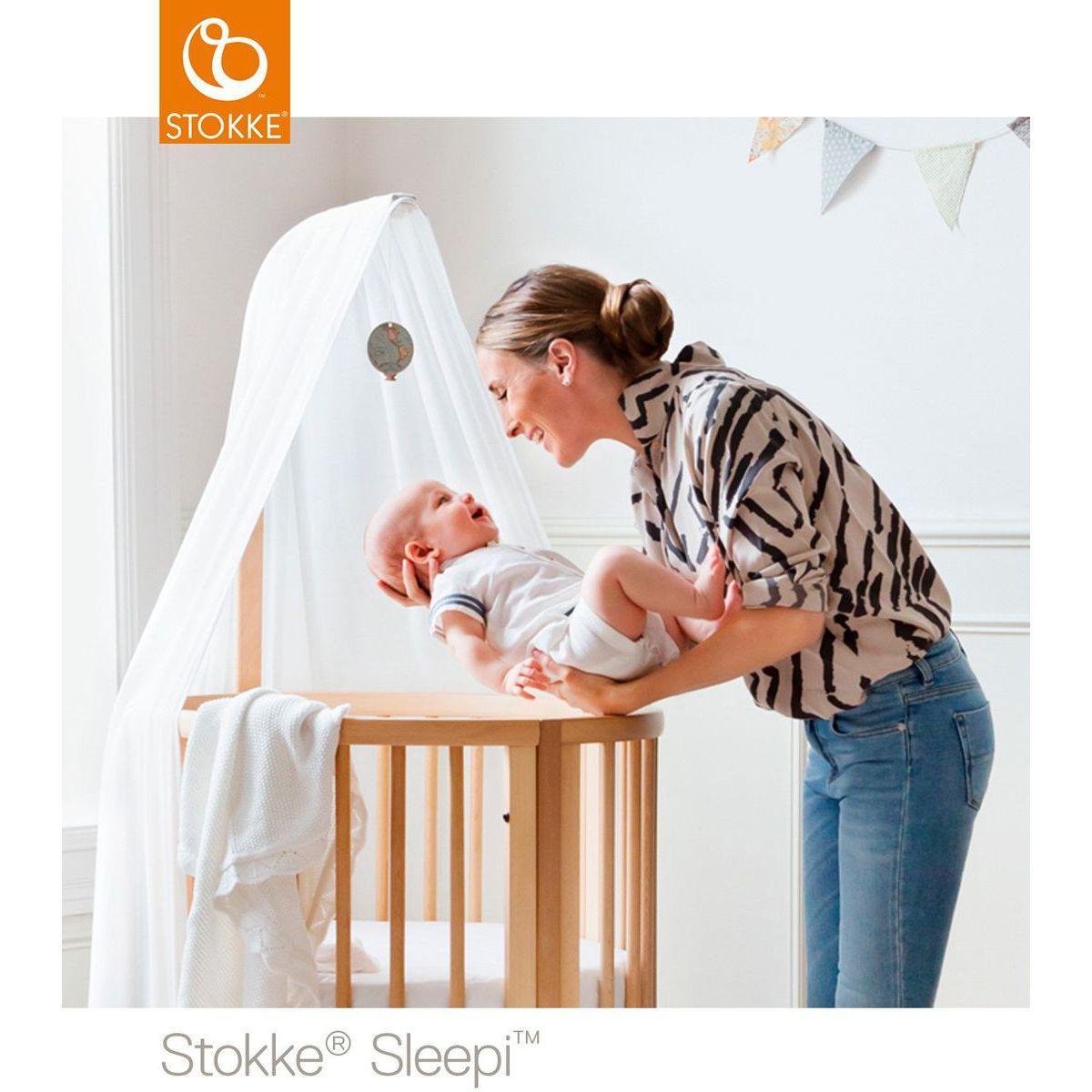 Berceau-lit bébé mini SLEEPI Stokke blanc